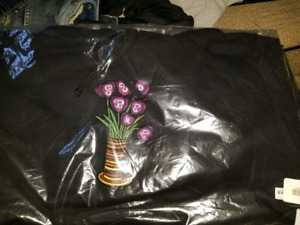 Supreme flowers hoodie size large