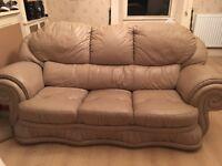3 seater sofa + 2 single. Sale for £50