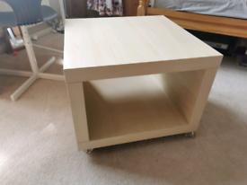 Coffee table on cators