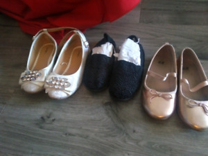 Girl shoes  and toddler toy