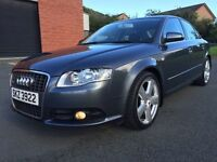NOVEMBER 2006 AUDI A4 SLINE 2.0 DIESEL 6 SPEED MANUEL ONE ONWER RECENTLY SERVICED