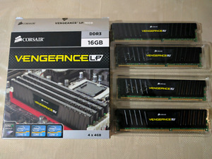 CORSAIR Vengeance LP 16GB (4 x 4GB) 240-Pin DDR3 SDRAM DDR3 1600
