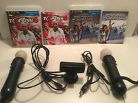 Ensemble manettes PS move+camera-45$