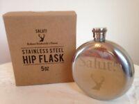 ️🍹Robert Fredericks 5oz stainless steel Salut hip flask