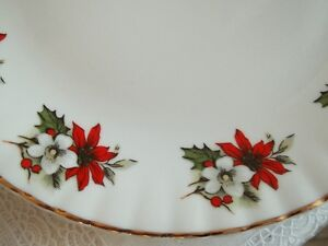 set of fine china Christmas dishes made in Romania
