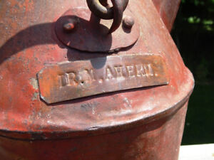 antique DOCTOR'S CAN jug WATER GAS OIL name plate CIVIL WAR