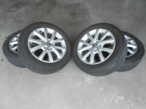4x Michelin Primacy MXM4 Touring tires (205/55/16) on ALLOYS