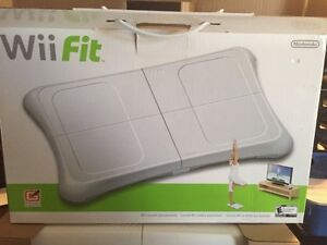 wii fit  with board in box
