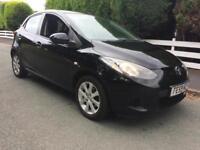 Mazda 2 1.3 TS2 5 Door Black Low Insurance Long Mot Recently Serviced