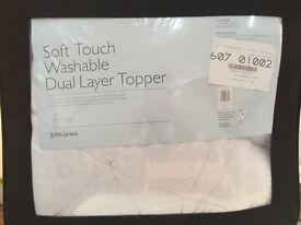 John Lewis mattress topper double