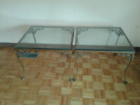 coffee/end glass top tables