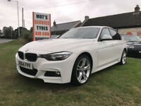 64 BMW 318D 320D M-SPORT 28000 MILES 1 OWNER FSH £30 TAX IN WHITE MUST SEE