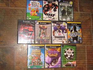 10-jeux GAME-CUBE et 7-jeux X-BOX 360