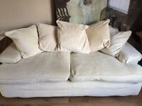 DFS Byron Cream Fabric Sofa
