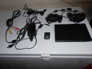 PLAYSTATION 2 SYSTEM WITH 19 GAMES