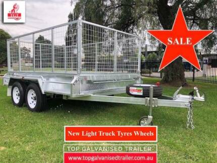 12x6 GALVANISED TANDEM TRAILER HEAVY DUTY BOX TRAILER NEW WHEELS Bulleen Manningham Area Preview
