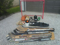 Lots of sports equipment, take it all for $30.