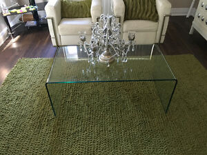 Modern Bent Glass Coffee Table