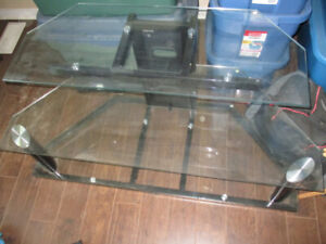tv stand glass 3 levels $80.00
