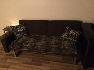 Sectional and futon