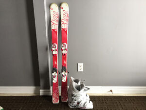 Girls skis, bindings and boots