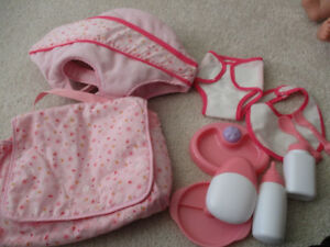 Like new, doll diaper bag