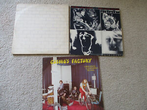 VINTAGE LOT OF 3 RECORD LP'S PINK FLOYD ROLLING STONES
