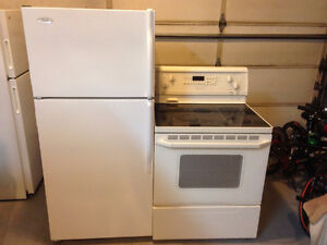 Whirlpool fridge and ceramic top stove
