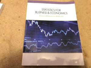 Statistics Business & Economics Custom Edition for BAB 210 $50
