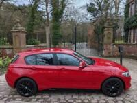 65 PLATE BMW 118i SPORT 5 DR HATCH 1 OWN 13,288 MILES SAT NAV M PERFORMANCE