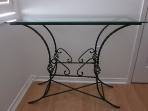 Reduced - Glass Top, Ornate Iron Table