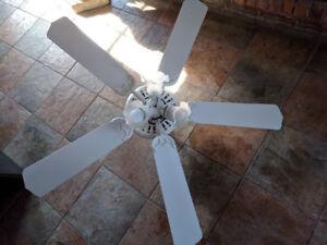 "48 "" Hampton Bay Ceiling Fan-White Brand New, Never used"