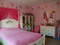 Canopy Double Bed and Dresses with Mirror