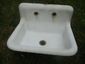 Vintage cast iron bathroom sink basin
