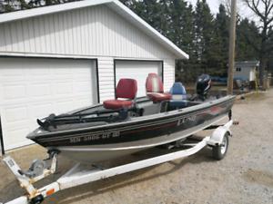 16' Lund fishing boat w/ 50HP 4-stroke motor