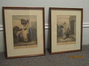 2 Framed Engraved Cries of London Prints