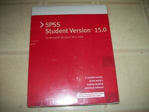 SPSS Student Version 15.0 Statistical Software (brand new)