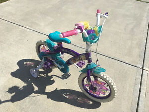 "Girls 12"" Tinkerbell bike (w/training wheels) on sale"