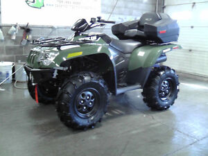 2016 ARCTIC CAT 500 WITH PLOW, WINCH, HEATED GRIPS, REAR BOX..0%