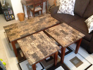 Coffee and Two End Table Set