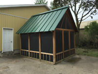HOT TUB GAZEBO WITH PRIVACY WINDOWS ON ALL SIDES $599.00