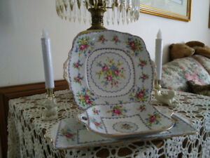 Royal Albert, PETIT POINT, Three Piece Set for $30.00.