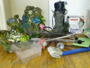 Misc aquarium supplies lot.
