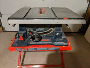 "Bosch 10"" table saw with stand"
