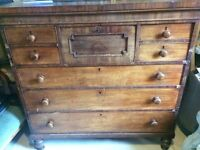 Victorian chest of drawers - 1.4m high