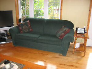 Couch with Rollout bed, love seat and chair
