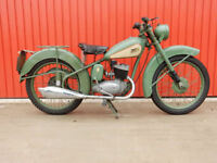 BSA BANTAM D1 125cc 1952 CLASSIC MOTORCYCLE 125 LEARNER LEGAL