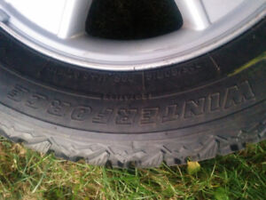 4winter tires and rims 225/60/16 in excellent condition