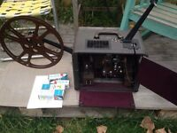 Antique Bell & Howell projector & screen