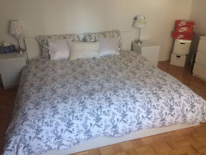 IKEA KING size malm bed with mattress- GREAT condition!